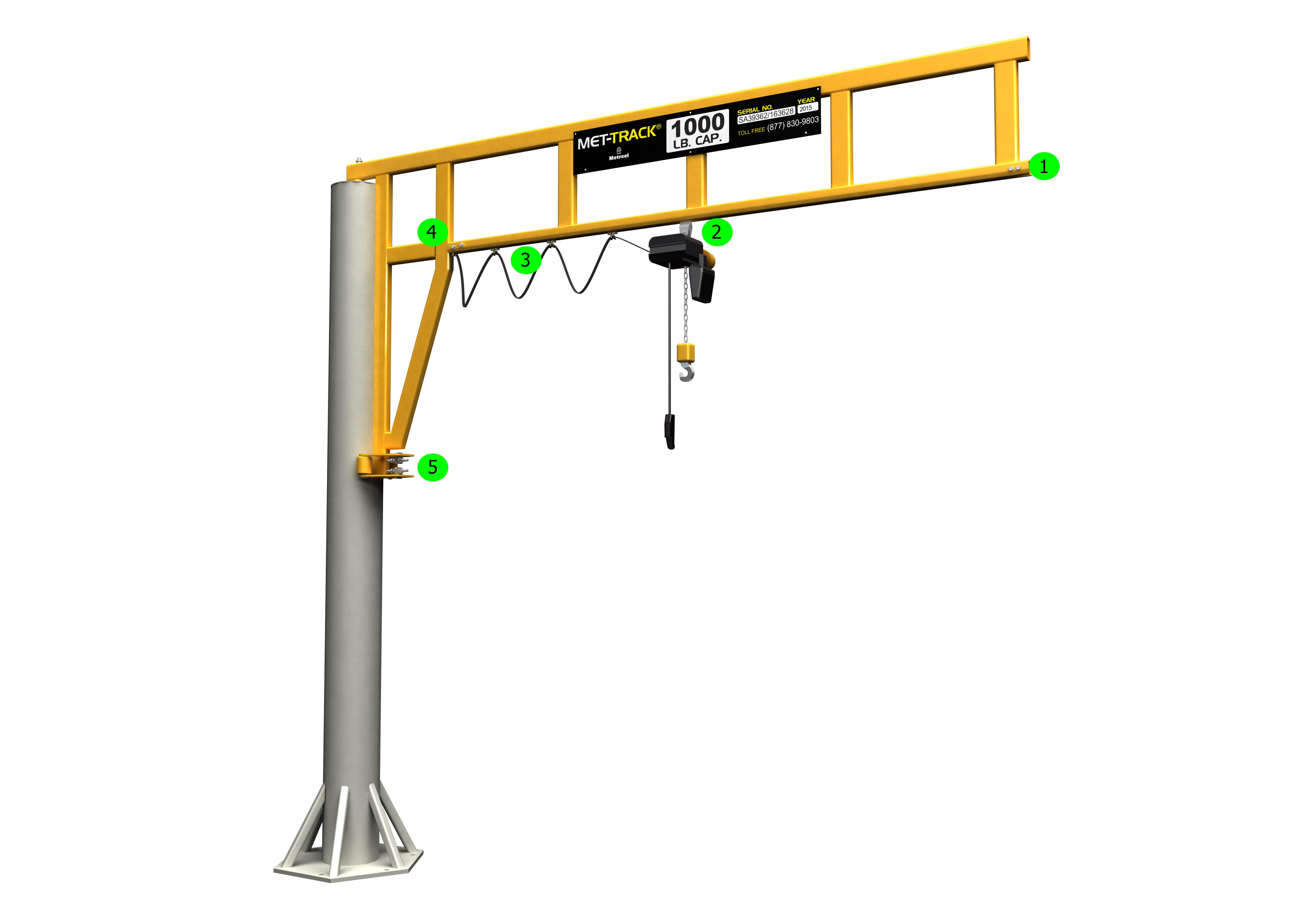 Workstation Jib Cranes   Metreel Inc