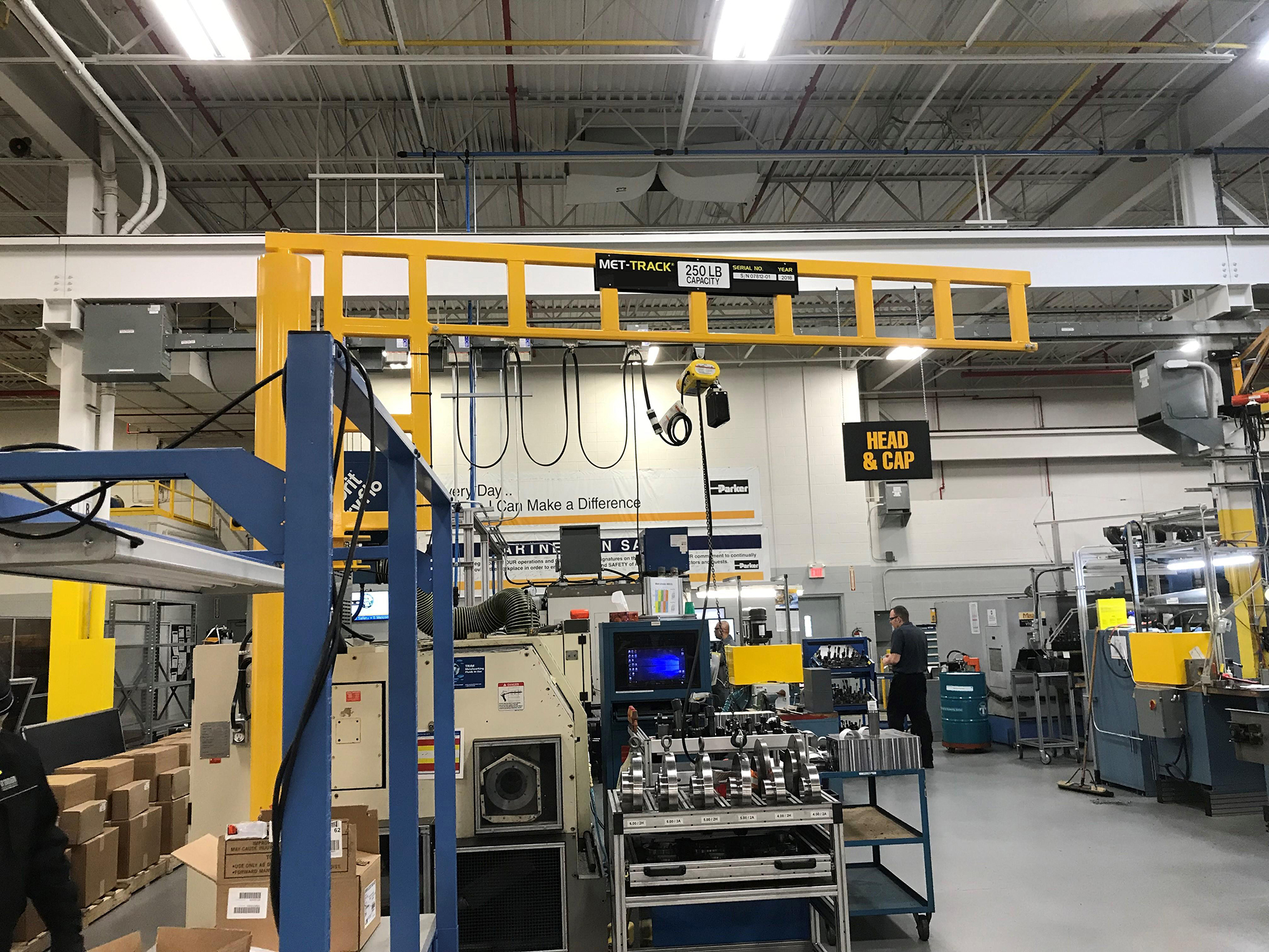 MET-TRACK Workstation Jib Crane - Floor Mounted